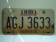 OHIO Birthplace of Aviation License Plate AGJ 3633