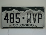 COLORADO License Plate 485 WVP