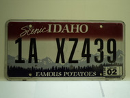 2011 IDAHO Scenic Famous Potatoes License Plate 1A XZ439