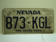 NEVADA Silver State License Plate 873 KGL