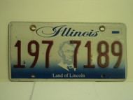 ILLINOIS Land of Lincoln License Plate 197 7819