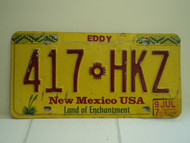 1997  NEW MEXICO Land of Enchantment License Plate 417 HKZ