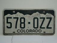 COLORADO License Plate 578 OZZ