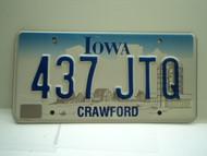 IOWA License Plate 437 JTQ
