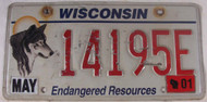 2001 May Wisconsin License Plate 14195E