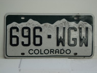 COLORADO License Plate 696 WGW