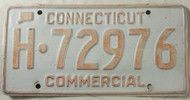 Connecticut Commercial License Plate H-72976