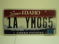 2010 IDAHO Scenic Famous Potatoes License Plate 1A YM065