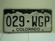 COLORADO License Plate W29 WGP