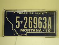 2010 MONTANA Treasure State License Plate 5 26963A