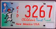New Mexico Kids Children Trust Fund License Plate
