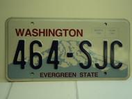 WASHINGTON Evergreen State License Plate 464 SJC