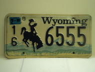 1998 Wyoming License Plate 16 6555