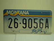 MONTANA Big Sky License Plate  26 9056A