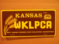 Kansas WKLPCA License Plate
