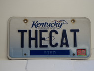 2013 KENTUCKY VANITY License Plate THECAT the cat