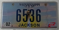 Feb Mississippi Vanity License Plate 6536
