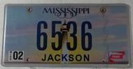 Feb Mississippi Vanity License Plate 6536
