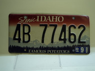 2001 IDAHO Famous Potatoes License Plate 4B 77462
