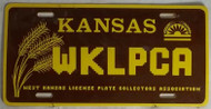 WKLPCA Kansas License Plate 1