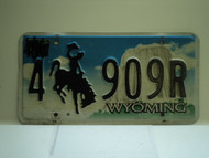 Wyoming License Plate 4 909R