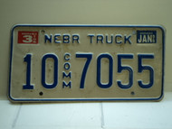 1996 NEBRASKA Commercial Truck License Plate 10 Comm 7055