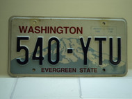 Washington Evergreen State License Plate 540 YTU