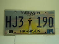 2011 MISSISSIPPI Lighthouse License Plate HJ3 190