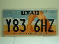 UTAH Life Elevated License Plate Y83 6HZ