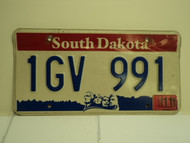 2005 SOUTH DAKOTA Mount Rushmore License Plate 1GV 991