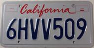 CALIFORNIA Lipstick License Plate 6HVV509