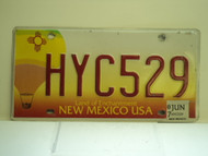 2007 NEW MEXICO Land Of Enchantment License Plate HYC529