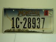 2008 MONTANA Big Sky License Plate 1C 28937