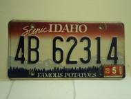 2003 IDAHO Famous Potatoes License Plate 4B 62314 1