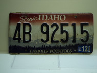 2004 IDAHO Famous Potatoes License Plate 4B 92515