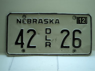 2004 NEBRASKA Dealer License Plate 42 DLR 26