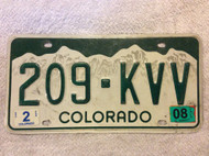 2008 Feb Colorado 209-KVV License Plate