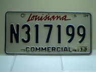 2013 LOUISIANA Commercial License License Plate N317199