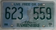2000 New Hampshire 623 559 License Plate