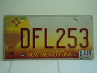 2002 NEW MEXICO Land of Enchantment License Plate DFL253