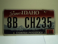 2012 IDAHO Scenic Famous Potatoes License Plate 8B CH235