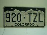 COLORADO License Plate 920 TZL