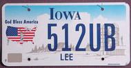 Iowa God Bless America Flat