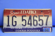 2006 IDAHO Scenic Famous Potatoes License Plate 1G 54657