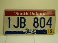 2004 SOUTH DAKOTA Mount Rushmore License Plate 1JB 804