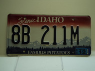 2010 IDAHO Famous Potatoes License Plate 8B 211M