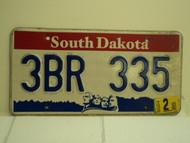 2004 SOUTH DAKOTA Mount Rushmore License Plate 3BR 335