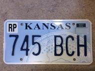 KANSAS Republic County License Plate 745-BCH