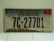 2007 MONTANA Big Sky License Plate 7C 27701