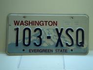 Washington Evergreen State License Plate 103 XSQ